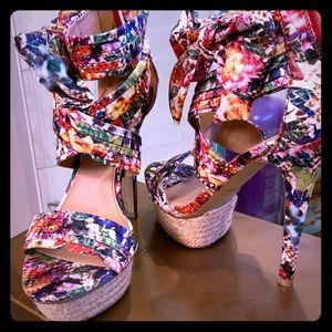 Gorgeous Multi-colored Zigi Soho high heel sandal